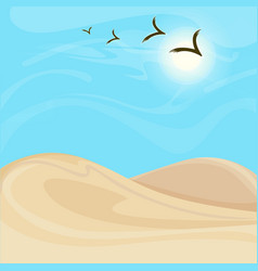 bright hot desert landscape background vector image