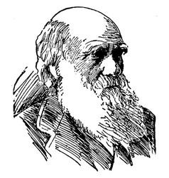 Charles robert darwin vintage vector