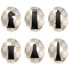 Chess figures icon set vector image vector image