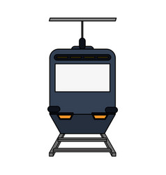 Color image funicular cable railway vector