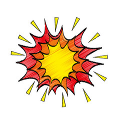 Comic explosion isolated icon vector