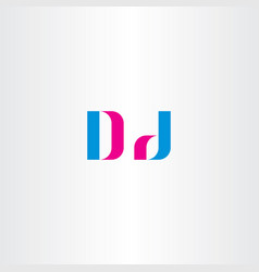 d letter logo sign element symbol vector image vector image
