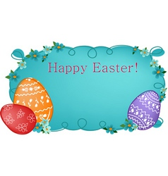 easter banner or greeting card vector image