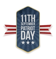 Eleventh september patriot day banner vector