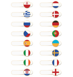 Euro 2012 flag tabs vector
