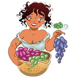Gather grapes vector