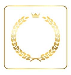 Gold laurel wreath crown golden vector image vector image