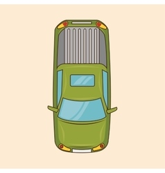 Green car transport online service vector