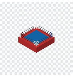 Isolated boxing isometric fighting element vector