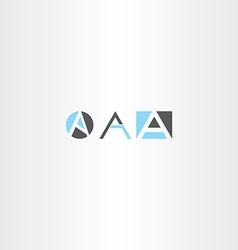 letter a logo set gray blue icon vector image vector image