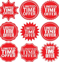 Limited time offer red label Limited time offer vector image