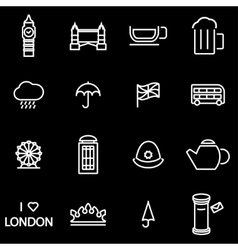 line london icon set vector image vector image