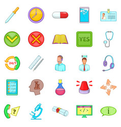 prop icons set cartoon style vector image