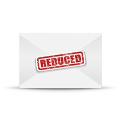 reduced white closed envelope vector image vector image