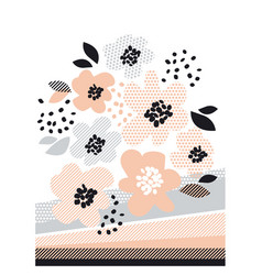 Romantic pale color floral design element vector