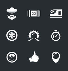 Set of hyper road icons vector