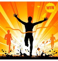 silhouette runner vector image