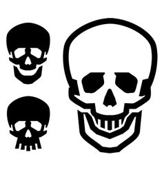 skull logo design template pirate or vector image vector image