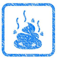 Smell bullshit framed grunge icon vector