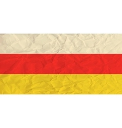 South Ossetia paper flag vector image vector image