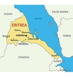 State of Eritrea map Royalty Free Vector Image