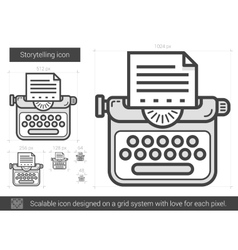 Storytelling line icon vector