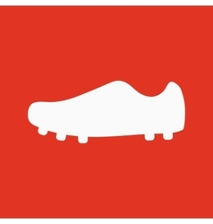 The Football boots icon Soccer symbol Flat vector image vector image