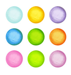 watercolor paint circles vector image vector image