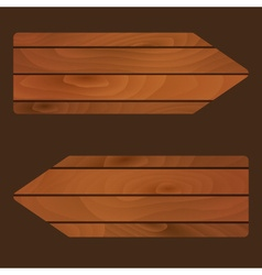 wooden banners signs boards with texture eps10 vector image vector image