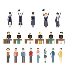 young people and students vector image