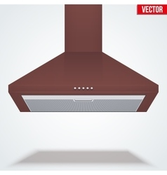 Exhaust range cooker hood vector