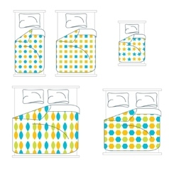 Bedding and linen set vector