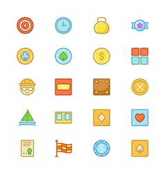 Sports Colored Icons 9 vector image