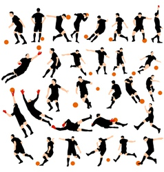Set of detail soccer silhouettes vector