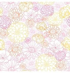 Wedding bouquet flowers seamless pattern vector image