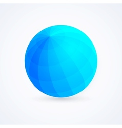Sphere blue ball vector image