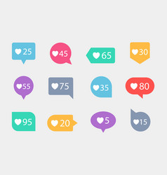 like counters notification vector image