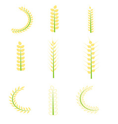 rice icons set vector image