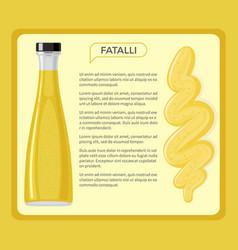 Fatalli sauce framed banner with text vector