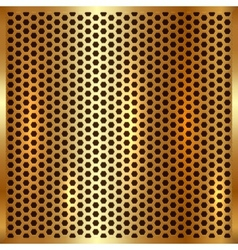 Metallic gold cell background vector
