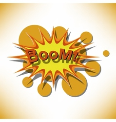 Bang Comic book explosion vector image
