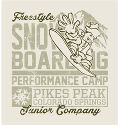 Snowboard camp vector