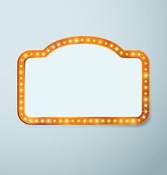 Retro cinema vintage old bulb frame sign vector