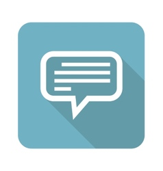 Square text message icon vector