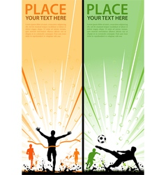 grunge sport flyer vector image