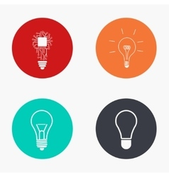 Modern idea colorful icons set vector