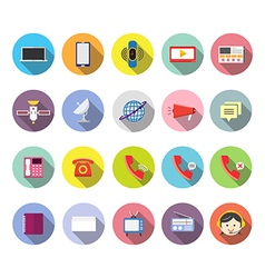 Communication icon flat design vector