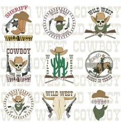 Set of wild west vector