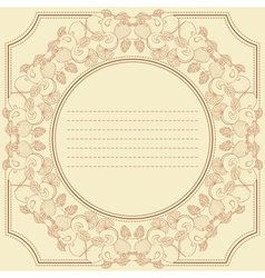 Vintage frame card with berry and fruit mix vector