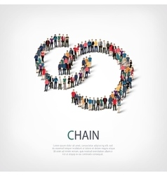 Chain people sign vector